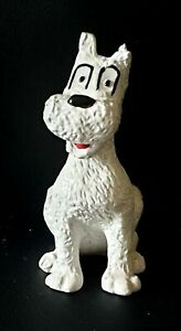 "Vintage 4"" SNOWY THE DOG Resin Figurine HERGÈS ADVENTURES OF TINTIN"