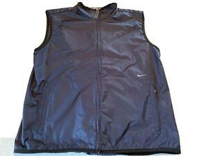 Nike Golf Mens Extra Large Navy Blue Performance Vest XL