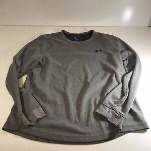 Under Armour Large Loose Cold Gear Long Sleeve Gray Shirt Men's