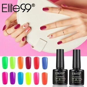 Elite99 Fluorescent Color Gel Nail Polish Neon Varnish Manicure UV LED Lacquer