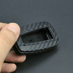 Carbon Fiber Silicone Car Smart Key Cover Case For Toyota Camry/C-HR/RAV4/Avalon