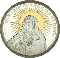 2009 $5 SILVER PROOF PALAU OUR LADY OF THE GATE OF DAWN ONLY 1K MINTED! (102720)