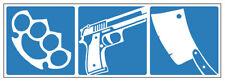 Aufkleber Crime Verbrechen Schlagring Beil Pistole Hool Fight Waffe move2be