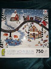 Merry Kohn Buvia 750 Pc Jigsaw Puzzle Musings Now You Tell Me Winter Scene