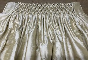 POM POM CURTAINS WIDE BAY THERMAL INTERLINED MADE TO MEASURE IVORY DUPION SILK