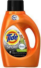 Tide + Febreze Freshness Sport Liquid Laundry Detergent, Active Fresh 46 oz