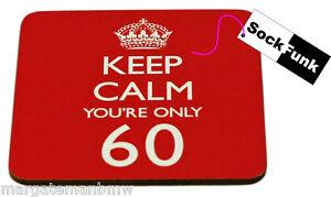 keep calm coaster 'YOU'RE 60' gift novelty present