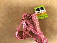 NWOT TOP PAW Step In Pet Dog Walking Harness - Pink/White Dog Paw - Sz M