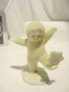 DEPT 56 SNOW BABIES Snowing Snowflakes baby figurine