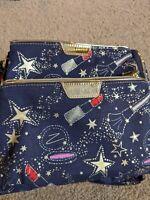 2 Estee Lauder Star Printed Cosmetic Makeup Bag