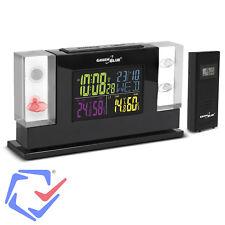 Station météo avec hologramme 3D et capteur extérieur Green Blue GB140 écran LCD
