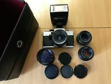 Praktica Super TL 2 Spiegelreflexkamera + 4 Objektive + Blitz + Tragetasche
