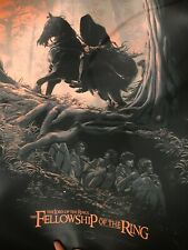 Extremely Rare Mondo Juan Esteban The Lord Of The Rings Poster Production sample