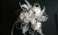Elegante Bianco Bouquet da Polso Nozze Crociera Prom