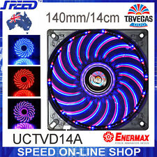 Enermax UCTVD14A 140mm T.B.VEGAS Blue/Red Combo LEDs 15dBA 100K Hrs Cooling Fan