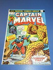 Captain Marvel #26 Bronze age 1st Thanos Cover Key Starlin Fine+ Beauty