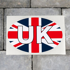 UK British Union Jack Flag Oval Shape Vinyl Sticker Decal Car Van - SKU5665