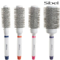 Sibel Round Hair Brushes Professional Ceramic/Ionic/Tourmaline & Silicon Handle