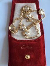 100% ORIGINALI Authentic Cartier 18 KT ORO Pasha Collana MADREPERLA