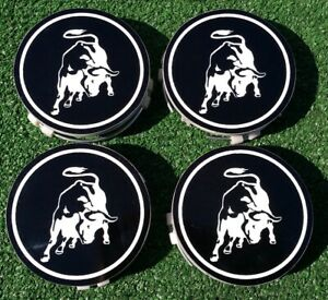 4 New Bull Logo Center Caps fit OEM Factory Lamborghini Diablo Roadster Wheels