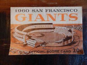 1960 SAN FRANCISCO GIANTS VS PITTSBURGH PIRATES BASEBALL PROGRAM MAYS CLEMENTE +