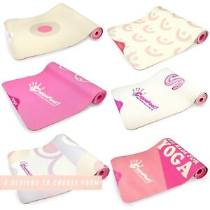 CoppaFeel! Yoga Fitness Mat For Home, Gym Exercise & Pilates - 183cm x 61cm 6mm