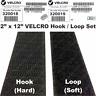 "2"" X 12"" VELCRO Hook & Loop Sew On Fastener Set Black, Multi-Units Shipped Uncut"