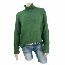 Women High Neck Long Sleeve Sweatshirt Knitted Sweater Jumper Casual Tops Blouse