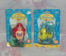Disney Little Mermaid Wilton Ariel Flounder Candles - Birthday - New, Sealed