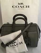 COACH 86856 Colorblock Snake Embossed Leather Rogue Satchel Graphite NWT