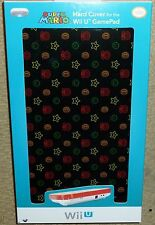 Nintendo Wii U Official Manette Protection Hard Screen Cover BRAND NEW MARIO BLK