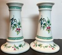 Queen's Kensington Place 2 bone China  Candle Holders