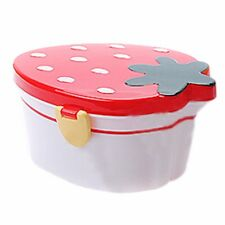 2-Tier Strawberries Microwave Bento Lunch Box Student Kids Candy Box Tableware