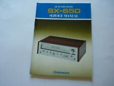 PIONEER Original SX-650 STEREO RECEIVER SERVICE MANUAL August 1976 Rare