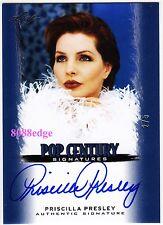 2012 POP CENTURY AUTO: PRISCILLA PRESLEY #2/5 ON CARD AUTOGRAPH ELVIS EX-WIFE