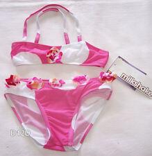 Milkshake Girls Pink White 2 Piece Bikini Size 4 New