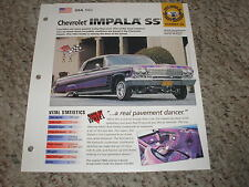 USA 1962 Chevy Impala SS Lowrider Hot Cars Group 8 # 26 Spec Sheet Brochure