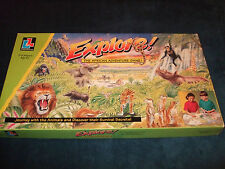 EXPLORE-- THE AFRICAN ADVENTURE FAMILY BOARD GAME- BY LIVING AND LEARNING 1995