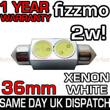 36MM INTERIOR LIGHT NUMBER PLATE FESTOON BULB 2w HIGH POWER SMD LED XENON WHITE