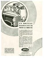 Publicité Ancienne  Voiture FORD Radiateur 1930