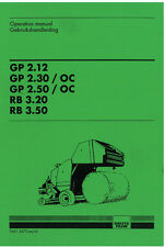 Deutz Fahr Round Baler GP 2.12 - 2.30 - 2.50 + RB 3.20 - 3.50 Operation Manual
