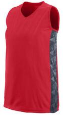 Augusta Sportswear Women's V Neck Fast Break Racerback Jersey T-Shirt. 1722