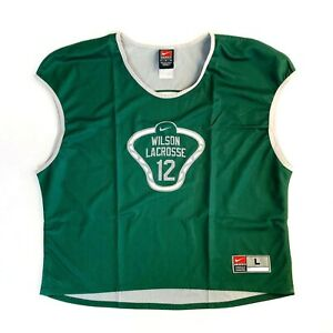 Nike Team Reversible Grey Green Adult Sleeveless Jersey Wilson Lacrosse 12 Large