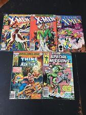 Lot Of 5 MARVEL COMICS X-MEN THE THING MAN-THING GI JOE 1978-87