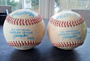 Vintage Game Used Carolina League Official 50th Anniversary Baseball Minor MLB