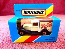 MATCHBOX  1981  MB 38  FORD  MODEL  A  [PEPSI-COLA]   MADE IN  MACAU  UNOPENED