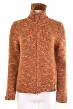 CALVIN KLEIN Womens Cardigan Sweater Size 14 Medium Brown Acrylic  KL05