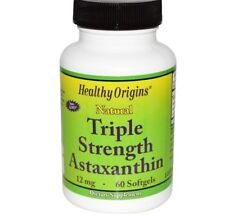 Astaxanthin 12mg X 60sgels Tripple stärke Healthy Origins