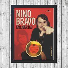 NINO BRAVO EN LIBERTAD CUADRO CON GOLD O PLATINUM CD EDICION LIMITADA. FRAMED