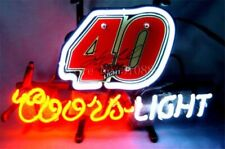 """New Coors Light Number 40 Neon Sign Bar Lamp Pub Gift 20""""x16"""""""